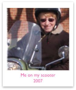 Kathi MacNaughton doing what I love best...scootin!