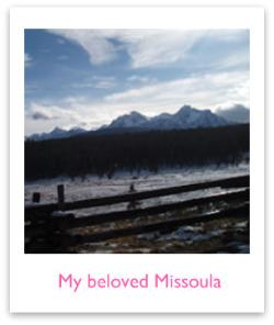 The mountains around Missoula Montana
