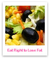 Learn how to eat right through healthy nutrition to lose fat